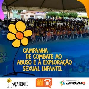 """CONDEÚBA: CREAS realiza campanha """"Faça Bonito na Praça"""" - Dia Nacional de Combate ao Abuso e à Exploração Sexual"""
