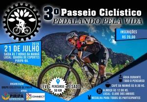 """PIRIPÁ: 3º Passeio Ciclístico """"Pedalando pela Vida"""" acontece no dia 21 de julho"""