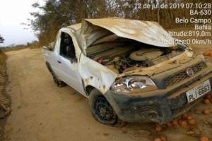 Acidente com vítimas de TREMEDAL: picape com vereador e a esposa capota a caminho de BELO CAMPO
