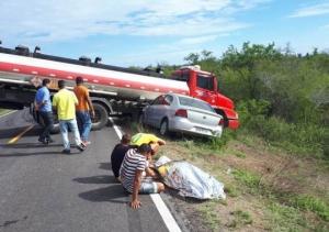 Acidente com vereadora baiana e quatro familiares deixa vítima fatal na rodovia BA-120